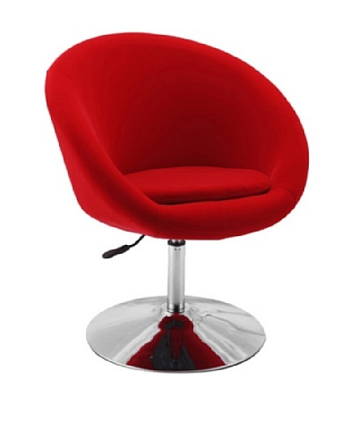 International Design USA Barrel Adjustable Swivel Leisure Chair, Red