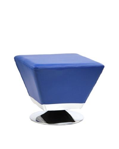 International Design USA Cube Ottoman, Blue