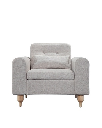 International Design USA Langley Accent Chair, Oatmeal