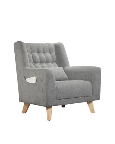 International Design USA Calvin Accent Chair, Grey