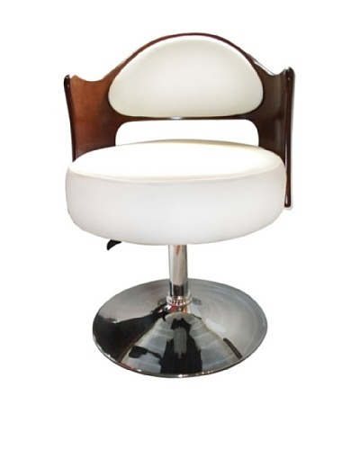International Design USA Caravan Adjustable Chair, White
