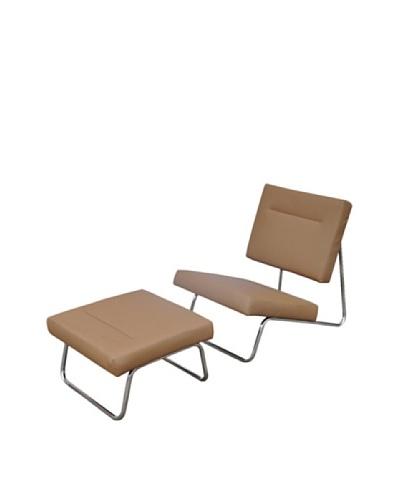 International Design USA Malaga Chair & Ottoman Set, BrownAs You See