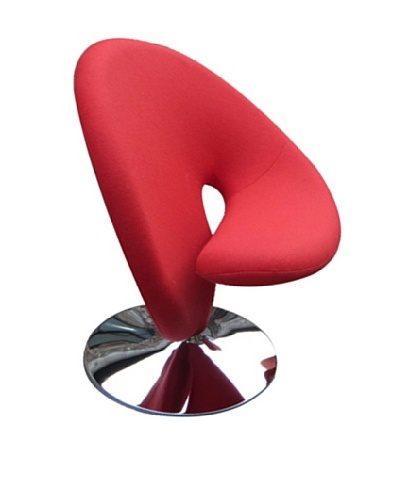 International Design USA Ziggy Swivel Leisure Chair, Red