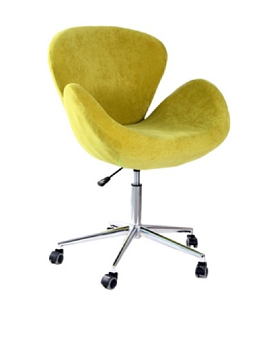 International Design USA Swan Adjustable Leisure Chair, Lime Green