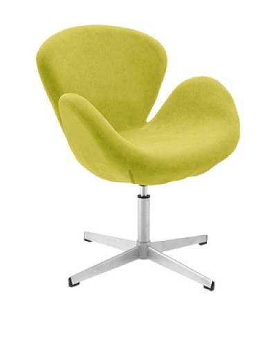 International Design USA Swan Adjustable Microfiber Leisure Chair, Lime Green