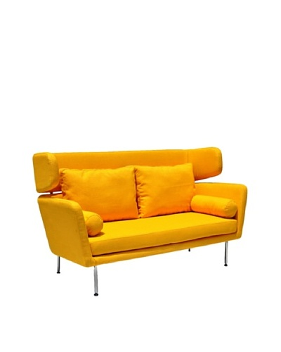 International Design USA Winged Sofa, Yellow