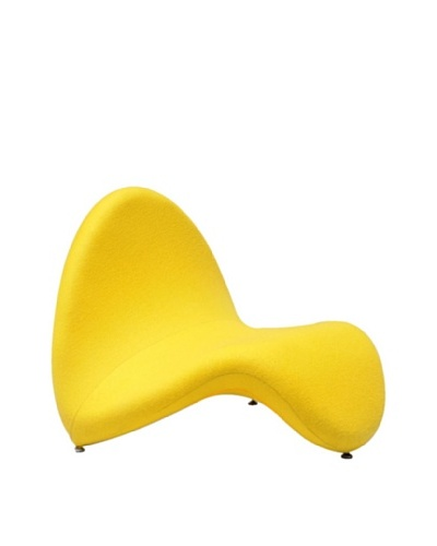 International Design USA Tongue Lounge Chair, Yellow