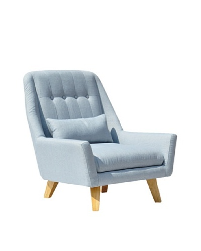 International Design USA Chloe Lounge Chair, Light Blue