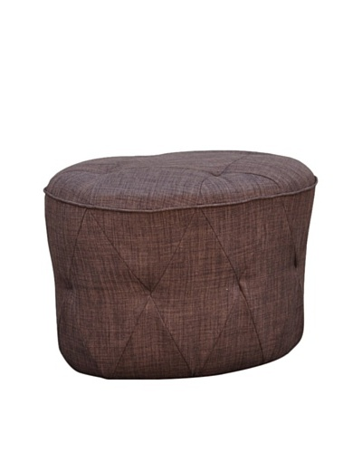 International Design USA Luxe Tufted Ottoman, Brown