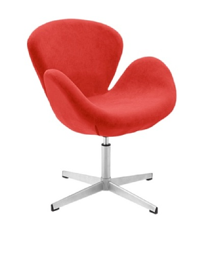 International Design USA Swan Adjustable Wool Leisure Chair, Red