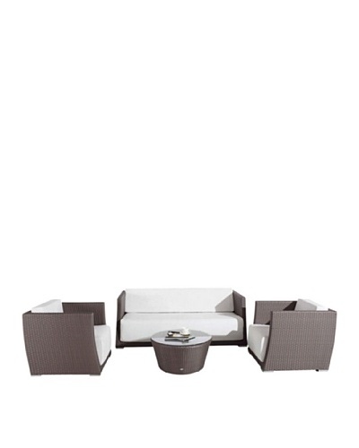International Designs USA Aramis Outdoor 4-Piece Outdoor Set, Mix Brown