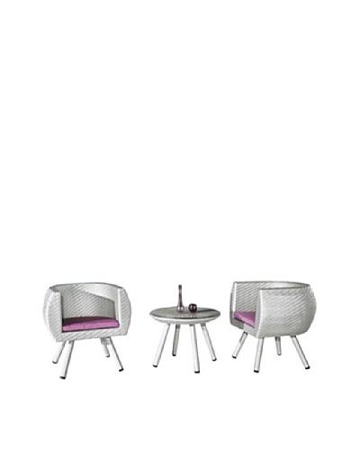 International Designs USA Yuyu 3-Piece Outdoor Set, Light Gray