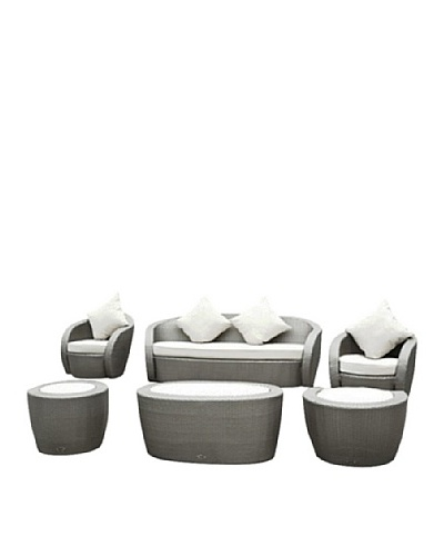 International Designs USA Pasha  6-Piece Outdoor Sofa Set, Grey