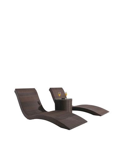 International Designs USA Vogue Lounge Set, Mix Brown