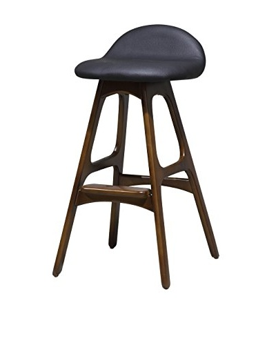 International Designs USA Bold Bar Stool, Black