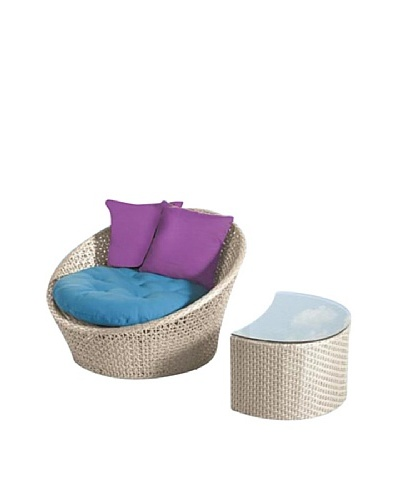 International Designs USA Jojo Outdoor Lounge Set, Cream
