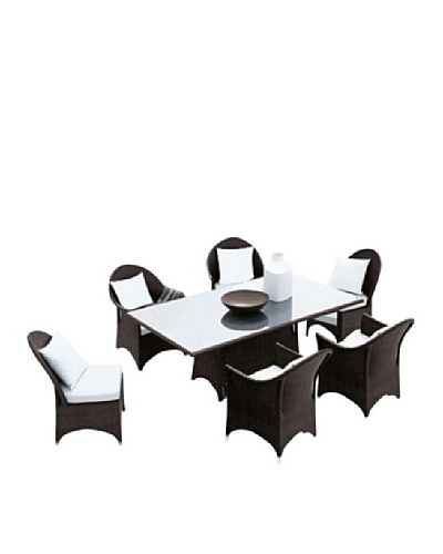 International Designs USA Baxter 7-Piece Outdoor Dining Set, Black
