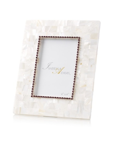 Isabella Adams 4 x 6 Crystallized Mother-of-Pearl Picture Frame with Birthstone, February