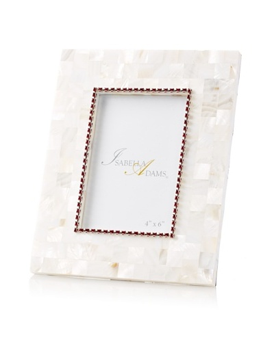Isabella Adams 4 x 6 Crystallized Mother-of-Pearl Picture Frame with Birthstone