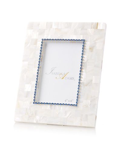 Isabella Adams 4 x 6 Crystallized Mother-of-Pearl Picture Frame with Birthstone, September