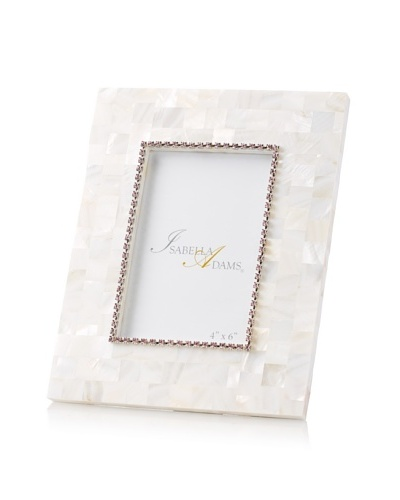 Isabella Adams 4 x 6 Crystallized Mother-of-Pearl Picture Frame with Birthstone, June