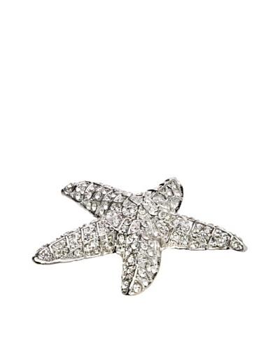Isabella Adams Swarovski Crystal-Encrusted Starfish Paperweight, Silver