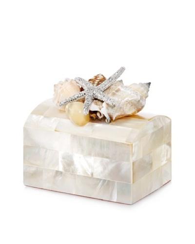 Isabella Adams Sea Shell Keepsake Ring Box, Mother-of-Pearl