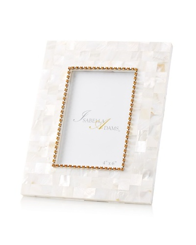 Isabella Adams 4 x 6 Crystallized Mother-of-Pearl Picture Frame with Birthstone, November