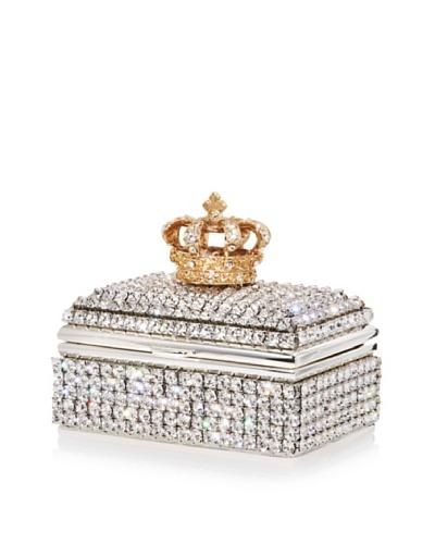 Isabella Adams Swarovski Crystal Crown Ring Box, Gold/Silver