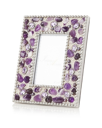 "Isabella Adams Gemstone and Swarovski Crystal Picture Frame, Violet, 4"" x 6"""