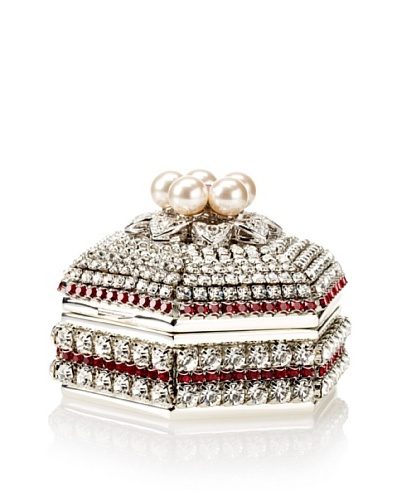 Isabella Adams Freshwater Pearl & Swarovski Crystal Hexagon Keepsake Box, July