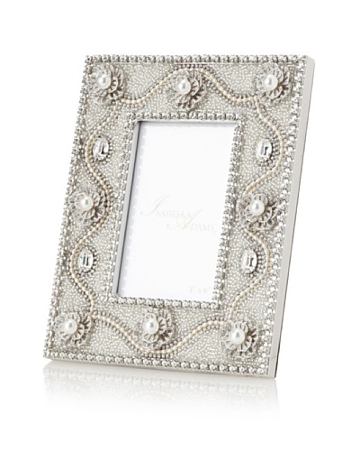 Isabella Adams Freshwater Pearl and Crystal Picture Frame, Silver, 4 x 6