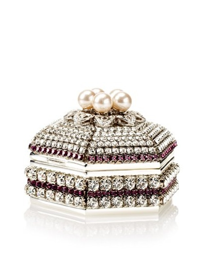 Isabella Adams Freshwater Pearl & Swarovski Crystal Hexagon Keepsake Box, February