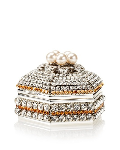 Isabella Adams Freshwater Pearl & Swarovski Crystal Hexagon Keepsake Box, November