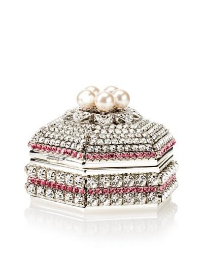 Isabella Adams Freshwater Pearl & Swarovski Crystal Hexagon Keepsake Box, October