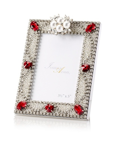 """Isabella Adams 3.5"""" x 5"""" Freshwater Pearl & Swarovski Crystal Picture Frame, January"""