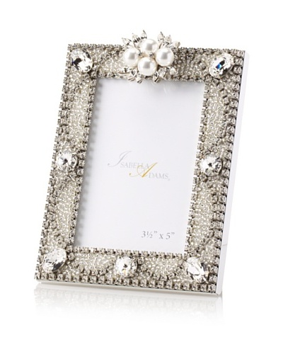 Isabella Adams 3.5 x 5 Freshwater Pearl & Swarovski Crystal Picture Frame, April