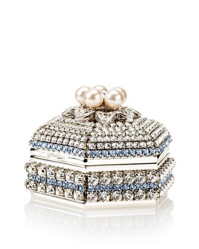 Isabella Adams Freshwater Pearl & Swarovski Crystal Hexagon Keepsake Box, December