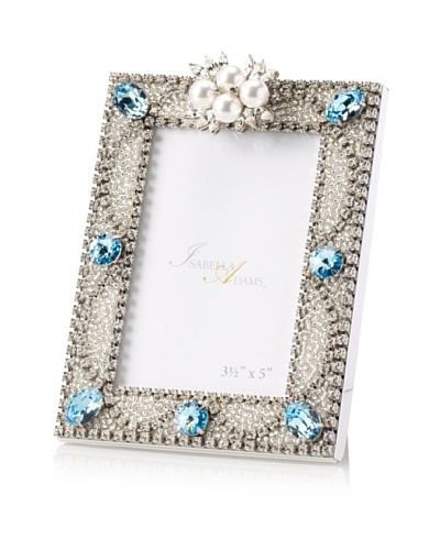 "Isabella Adams 3.5"" x 5"" Freshwater Pearl & Swarovski Crystal Picture Frame, March"