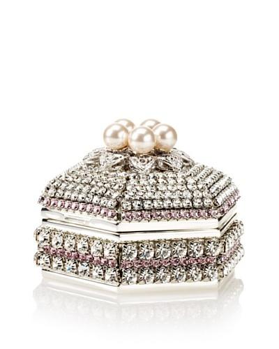 Isabella Adams Freshwater Pearl & Swarovski Crystal Hexagon Keepsake Box, June