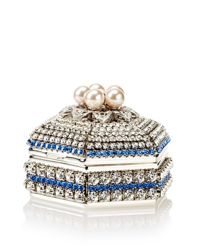 Isabella Adams Freshwater Pearl & Swarovski Crystal Hexagon Keepsake Box, September