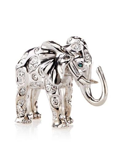 Isabella Adams Swarovski Crystal-Encrusted Elephant Paperweight, Silver