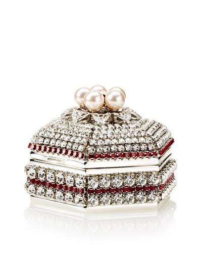 Isabella Adams Freshwater Pearl & Swarovski Crystal Hexagon Keepsake Box, January