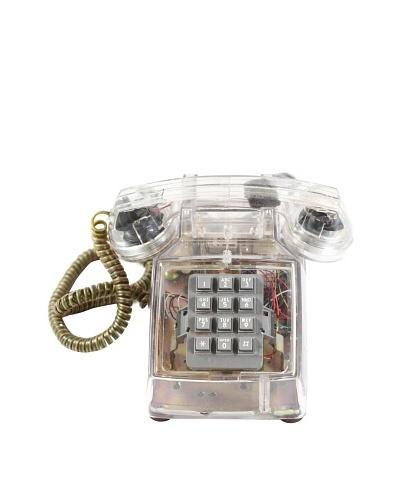 ITT Vintage Telephone, Clear/Gold/Grey
