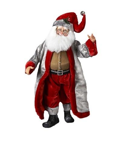 Kurt Adler 19 Jacqueline Kent Rich Silver and Red Standing Santa