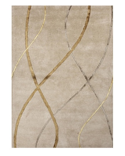 Jaipur Rugs Hand-Tufted Geometric Rug, Taupe/Yellow, 8' x 11'