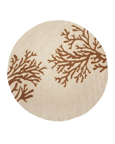 Jaipur Rugs Abstract Pattern Indoor/Outdoor Rug, Beige/Brown, 8' Round