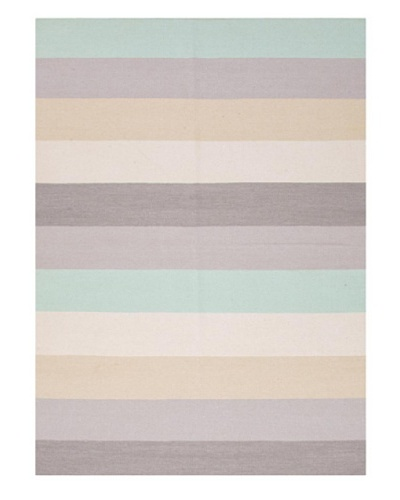 Jaipur Rugs Hand-Made Stripe-Pattern Wool Flat-Weave Rug