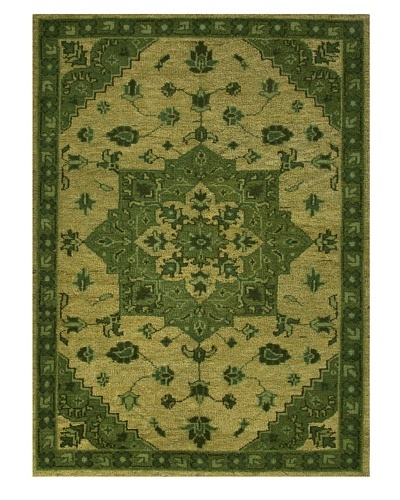 Jaipur Rugs Hand-Knotted Wool Rug, Oasis Green, 5' x 8'