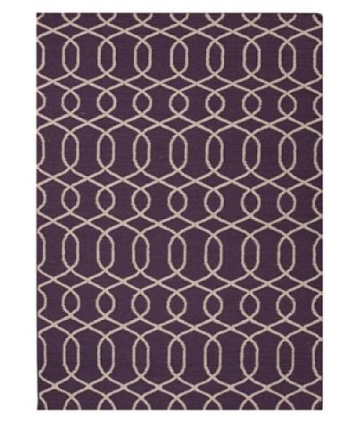 Jaipur Rugs Flat Weave Moroccan Pattern Pink/Purple Wool Handmade [Pink/Purple]
